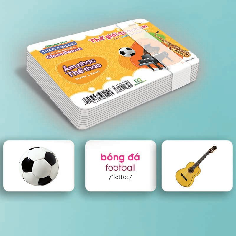 Sách - Thẻ Flashcard Theo Phương Pháp Glenn Doman - Thế Giới Quanh Em: Âm Nhạc - Thể Thao