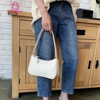 ❦Ready Stock❦ Simple Elegant Women Small Shoulder Bag Pure Color Sling Handbags (White)