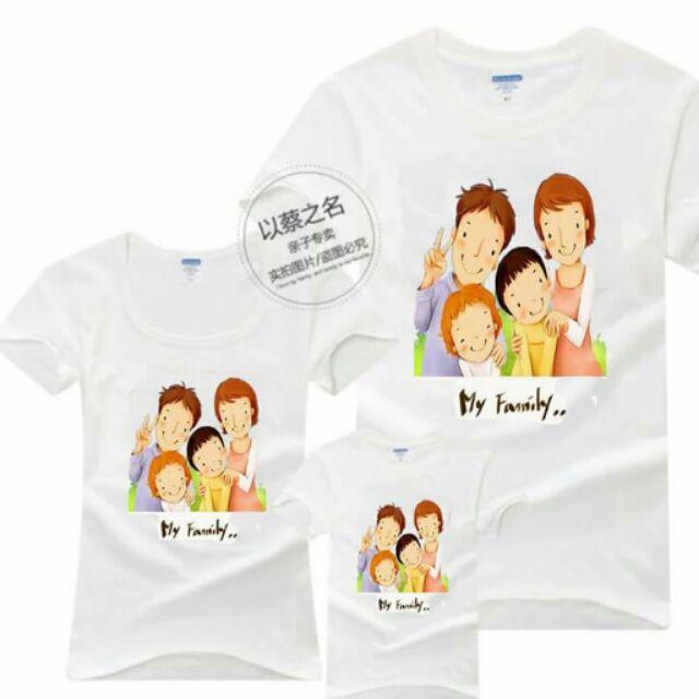 Set 3 áo thun gia đình in chuyển nhiệt