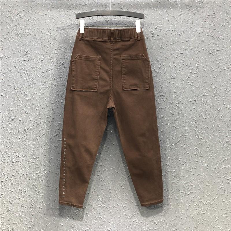 Quần Jeans Nữ Dài Lưng Cao Thời Trang Châu Âu