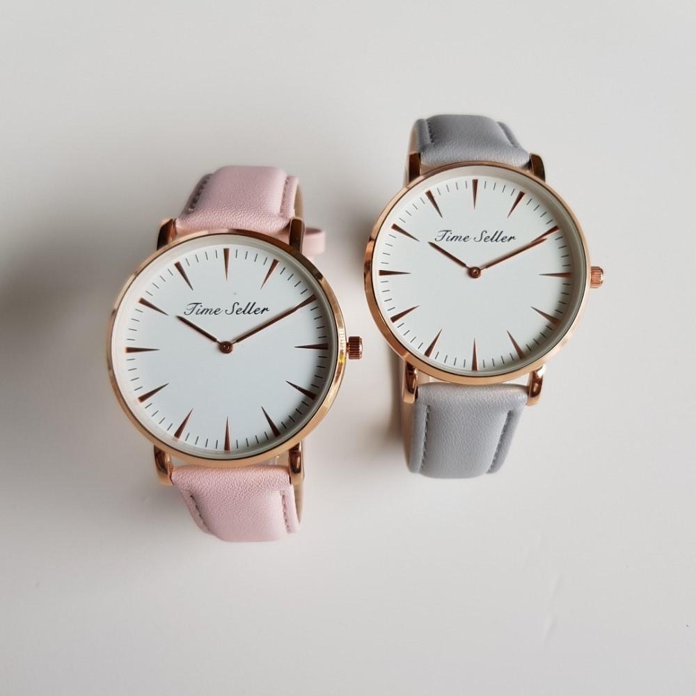 Đồng hồ Unisex Time Seller TS39 viền mỏng 7mm dây da
