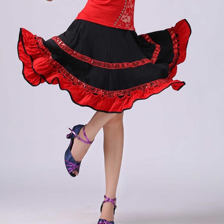 Chân Váy Dáng Xòe Đính Kim Sa Lấp Lánh Dùng Để Nhảy Múa