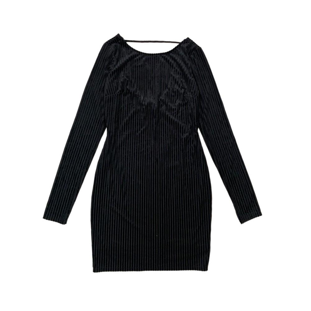 5319109899 - Đầm thun ôm body hở lưng màu đen - áo đầm ôm body thời trang