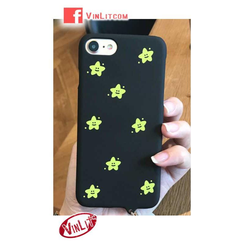 Ốp lưng Iphone 7, Iphone 8 thường Ốp lưng nhựa cứng ngôi sao lấp lánh - vàng IP7267020