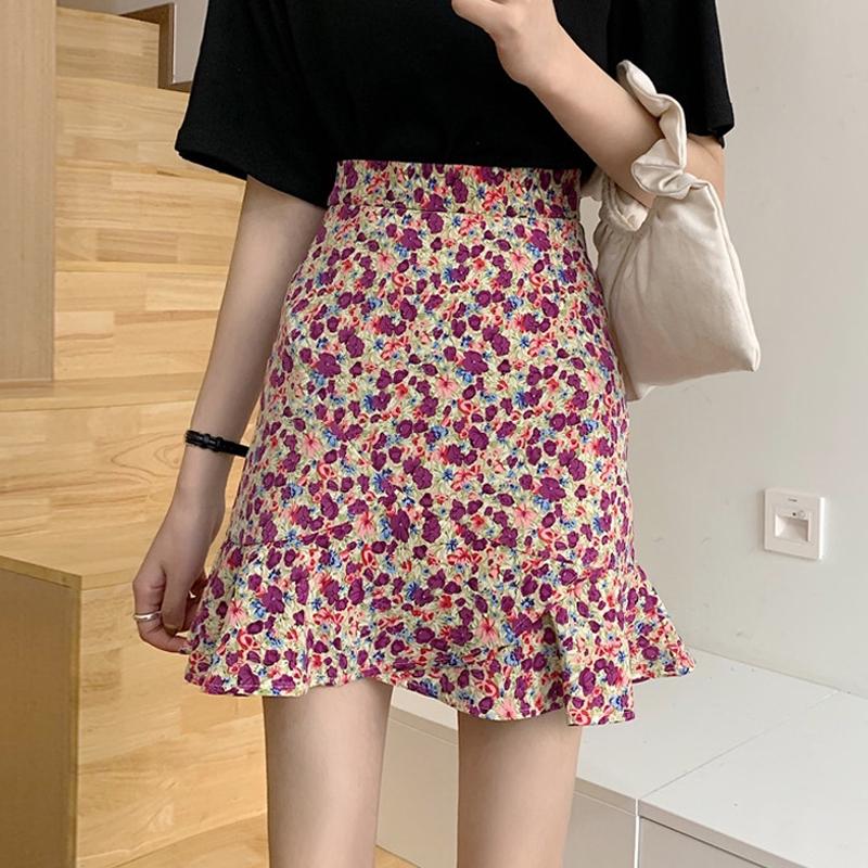 Chân Váy Hoa Lưng Cao Thời Trang Dành Cho Nữ