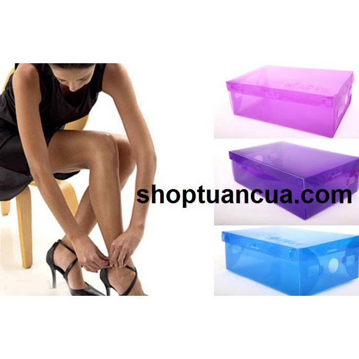 Sỉ 50 hộp đựng giầy trong suốt
