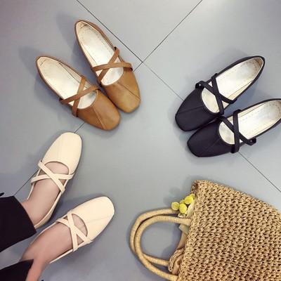 Giày búp bê quai đan chéo