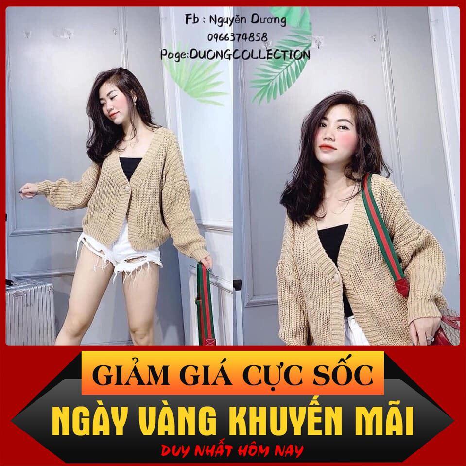 [ Rẻ Vô Địch ] Nhập WAPCK10 giảm 25k đơn từ 150k - áo khoác len nữ cổ V dáng ngắn ( hot trend ) thời trang nem
