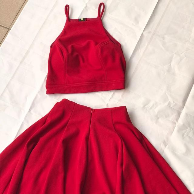 Set chân váy đỏ HÀNG THIẾT KẾ CAO CẤP(new 100%)