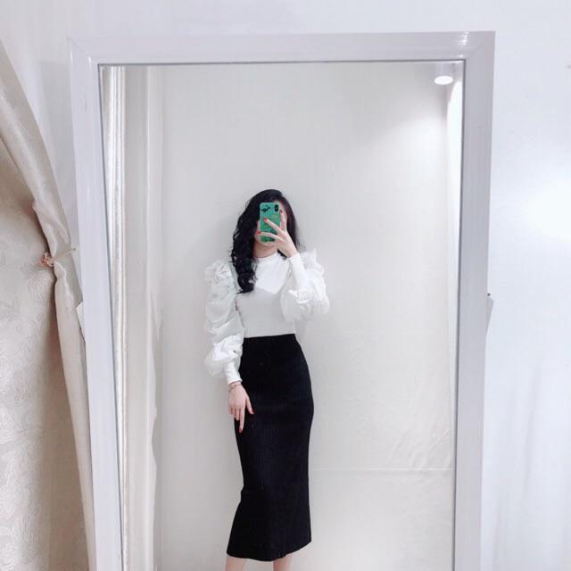Ảnh Thật - Chân váy len basic