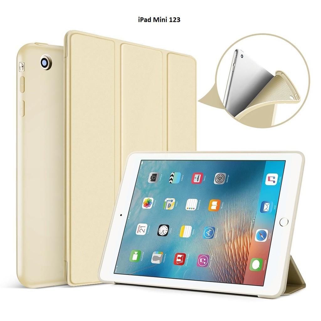 Bao da kiêm ốp lưng cho iPad Mini 123 (Gold) M2