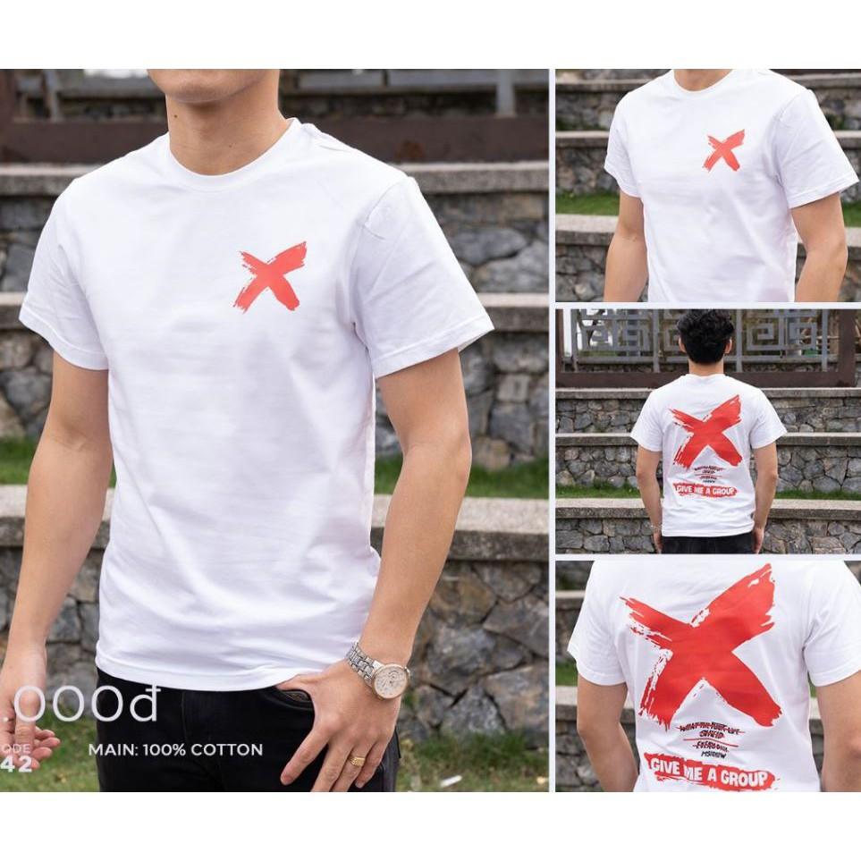 áo thun nam nữ tay lỡ , tay ngắn 100% cotton bán chạy chữ X phong cách , đủ size freeship giá rẻ tốt 5FS70K