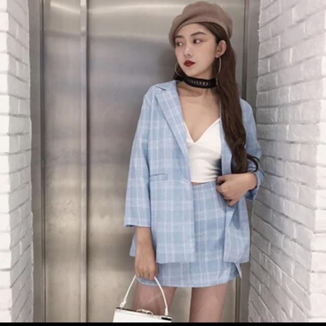 Set áo khoác + cvay có bán lẻ áo or chân váy, liên hệ 0124.6060.992/ fb : Bùii Hồng Ngọc / ins : _rubysosweet248