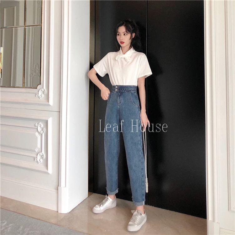 Quần jean dài 2 nút