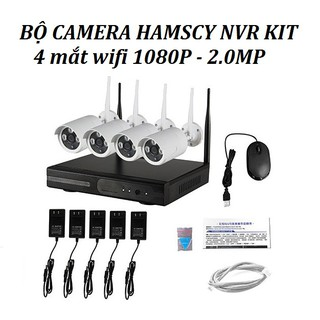 [[KÈM VIDEO TEST] Bộ Đầu Ghi NVR HD + 4 Camera WIFI 2M full HD 1080P