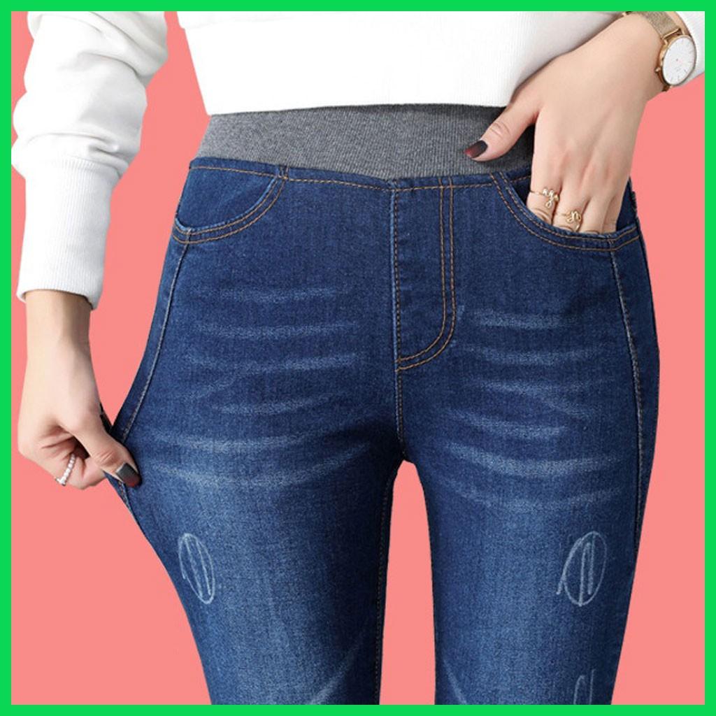 [VIDEO + SẴN HÀNG] Quần jean nữ lưng cao, cạp chun co giãn - QJ-003i 2020