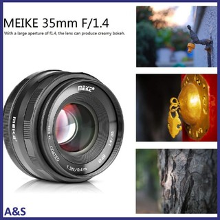 MEKE 35mm f1.4 Manual Focus Lens for Sony E-mount A7R A7S A6500 A7/Fuji X-T2