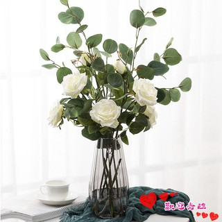 Nordic fresh ins wind Eucalyptus leaves with grass artificial flowers fake flowers living room decoration floral bouquet set