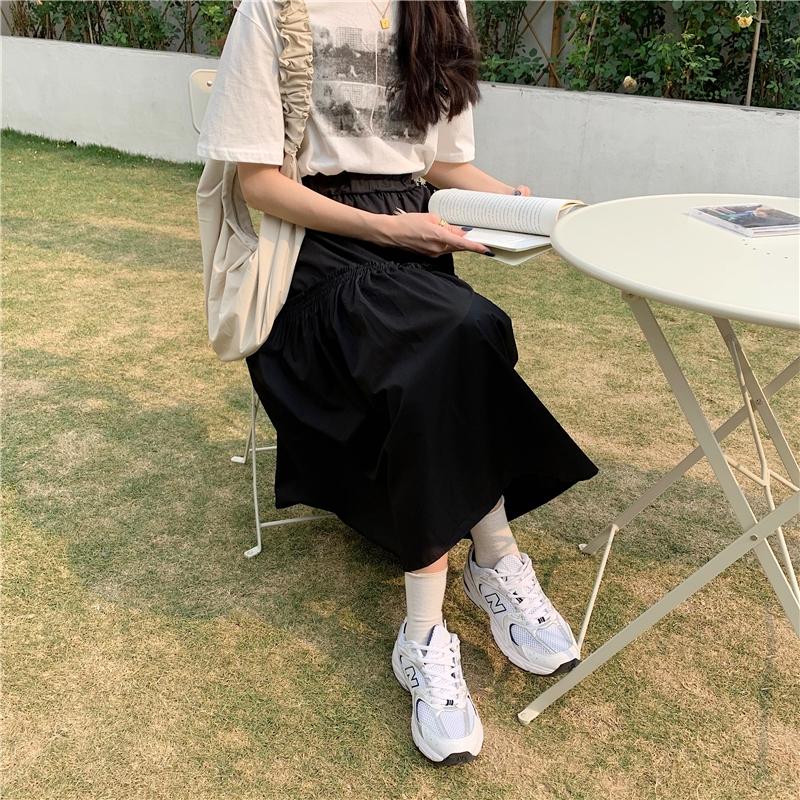 Chân Váy Lưng Cao Co Giãn Thời Trang Hàn Quốc Cho Nữ