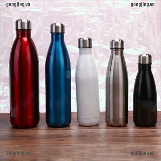 Hình ảnh GJ 1PC Stainless Steel Double Wall Vacuum Insulated Bottle Water Flask Sport Bottle VN