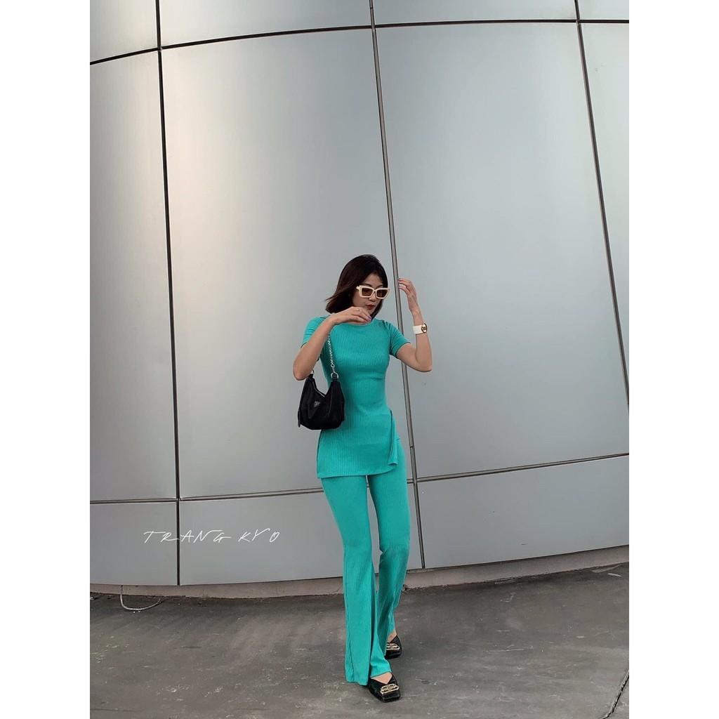 Set áo thun + phối quần Chất thun vừa vặn chuẩn form đúng gu em thích =))) Full sắc màu mùa hè KÈm hình thật