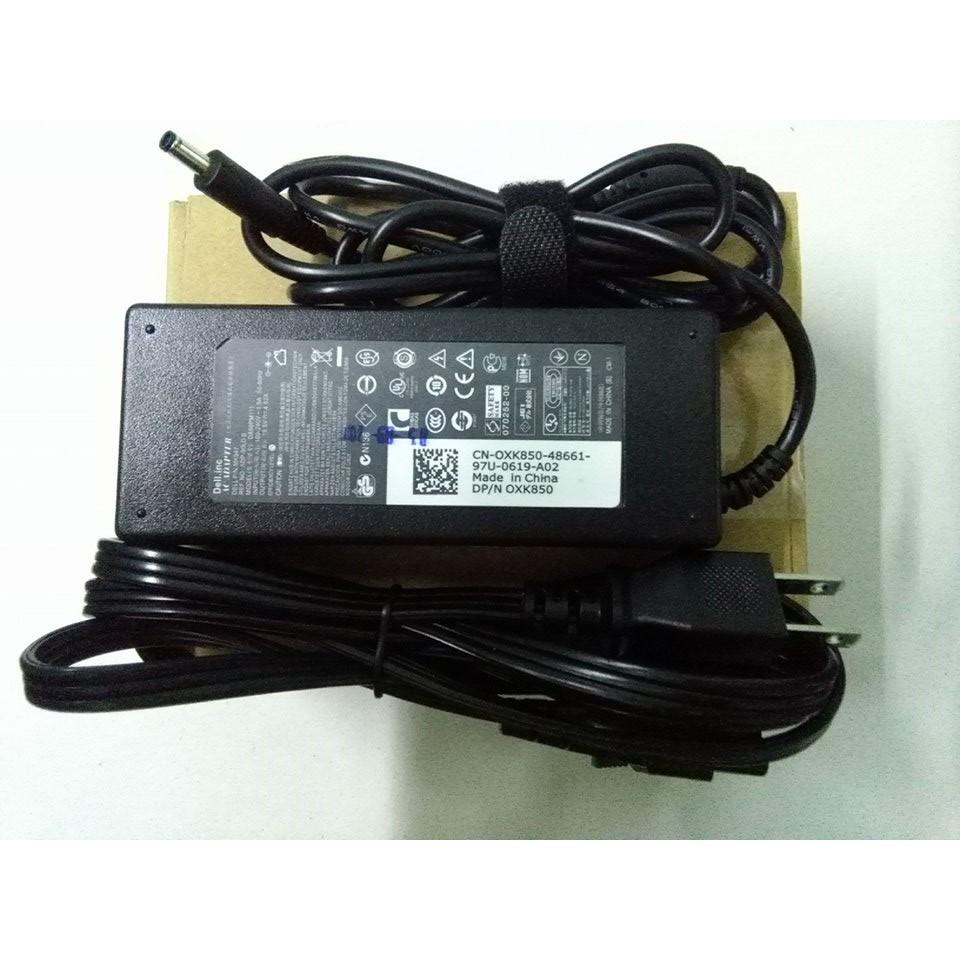 Sạc laptop dell kim nhỏ 19.5v-4.62a + tặng dây nguồn hai chân loại xịn
