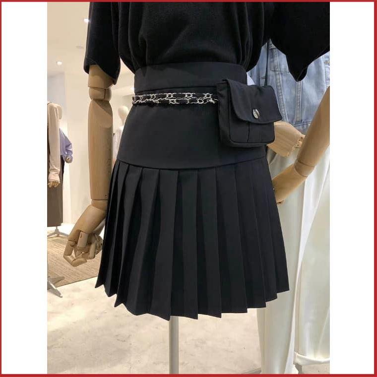 [Hàng Đẹp] Chân Váy Ngắn Xếp Ly Tặng Kèm Túi Mini