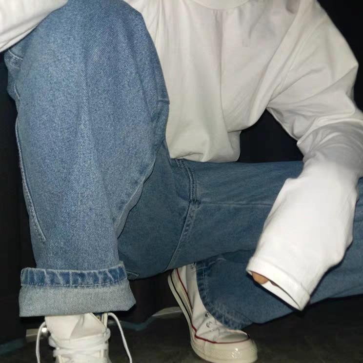 [Có sẵn] JEANS PANTS - Quần Jeans ống rộng nam nữ UNISEX . Đi Là Chất