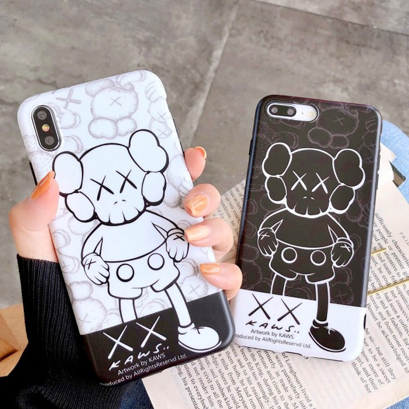 Fashion Kaws Doll Pattern iPhone 6 6S 7 8 Case White 6 Plus 7 Plus 8 Plus Casing Silicone iPhone X XS XR XS MAX Cover