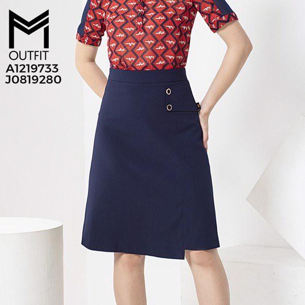 Chân váy dáng A lệch tà thời trang MMOutfit J0819280
