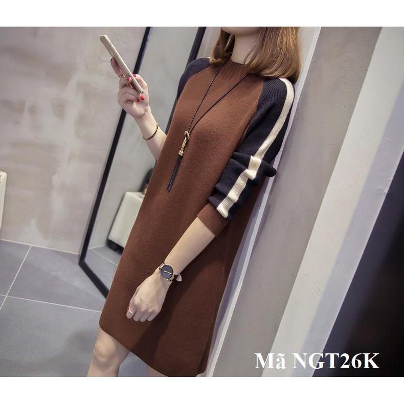 Váy, đầm trung niên dài tay mỏng NGT26-NGT26K
