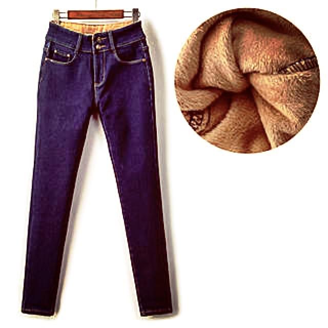 Quần Jeans nữ lót lông cao cấp