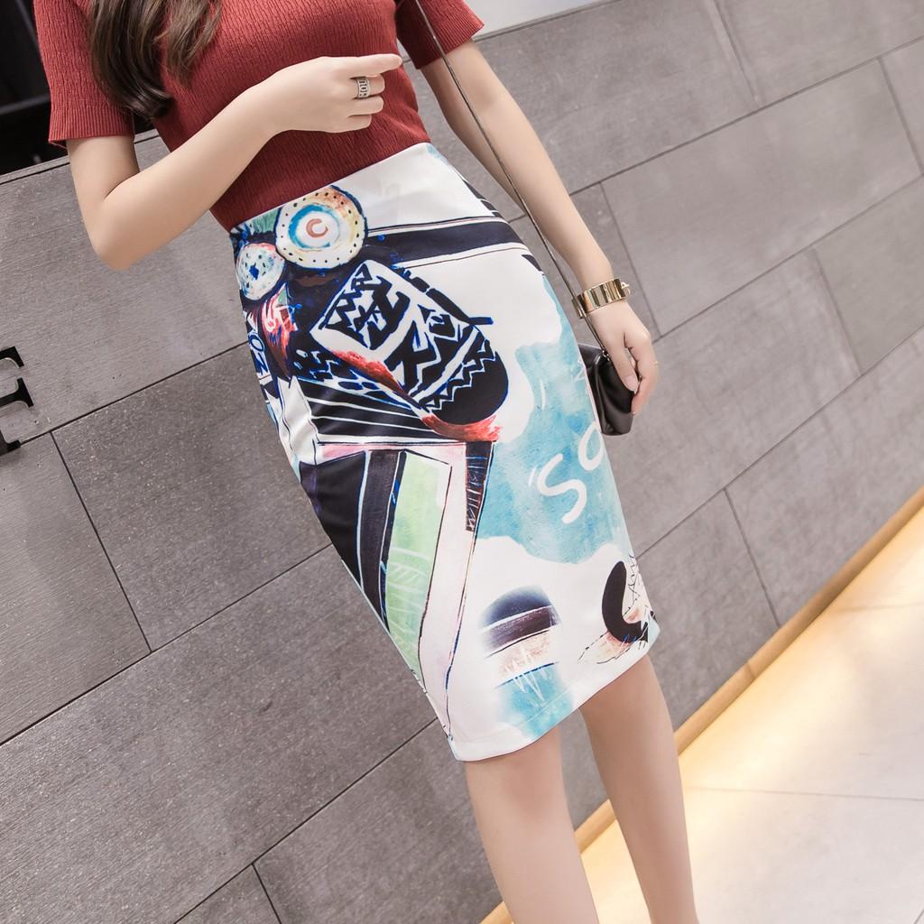 Chân Váy Lưng Cao Phối Màu Xinh Xắn Theo Phong Cách Xuân Hè 2020