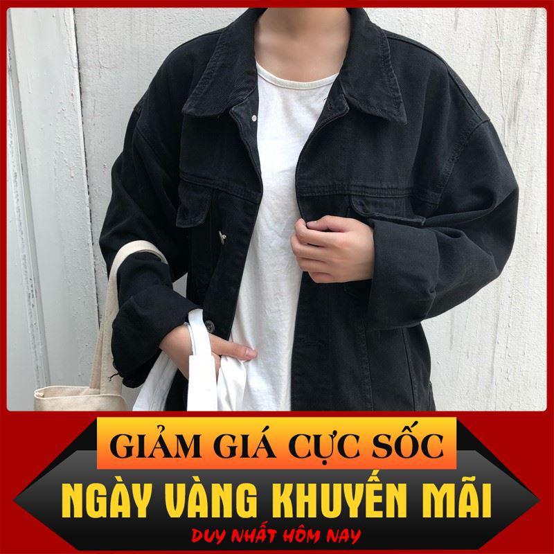 [ Sale 50% ] áo khoác jean nam,khoác jean Unisex cao cấp KJC26 thời trang công sở