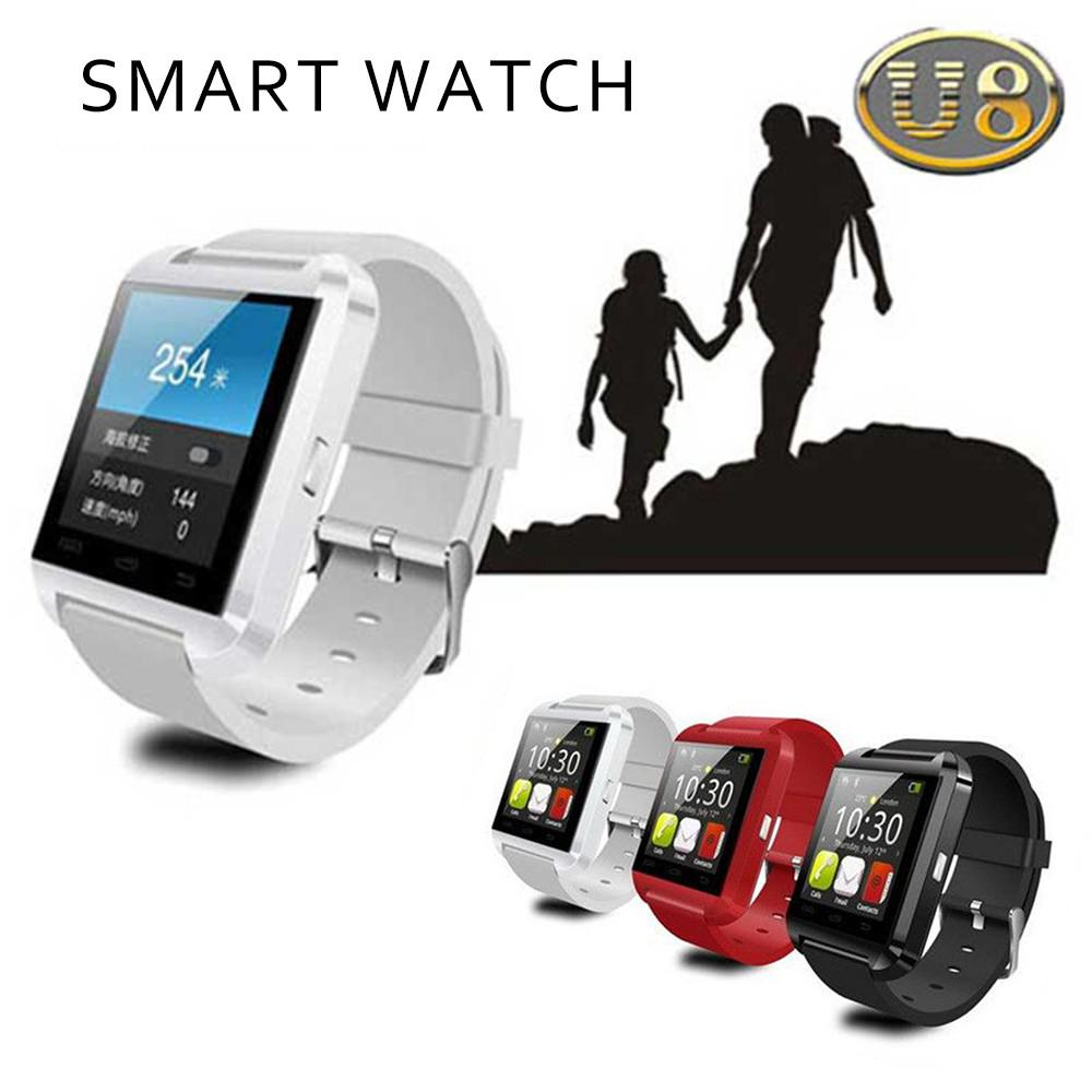 Fashion Bluetooth Smart Watch U8 For IPhone IOS Android Smart Phone Couple Fitness Bracelet