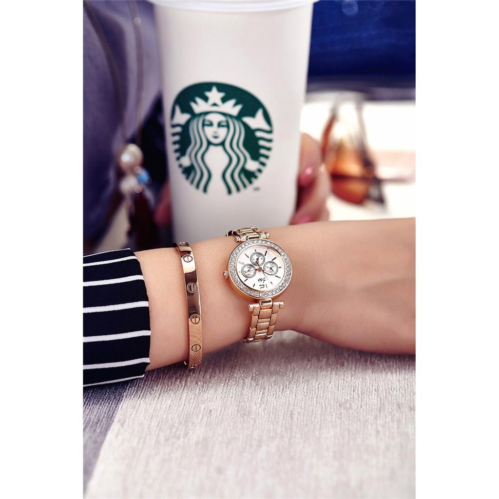 [Mã WTCHJAN giảm 20K ] Đồng hồ nữ JW HSP2351 dây thép không rỉ - mặt kính size 30mm