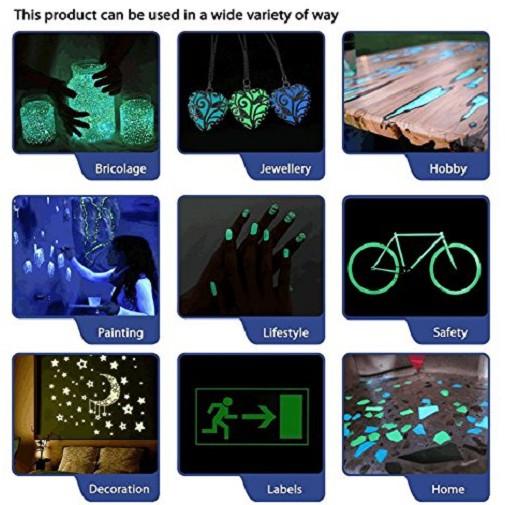 20 gram Bột dạ quang phát sáng trang trí (xanh lục) - vanmaihon