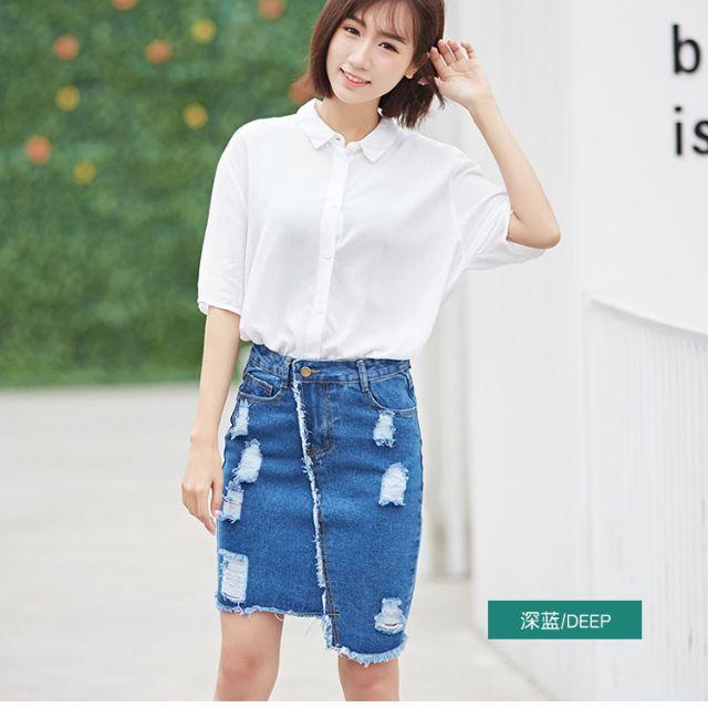 Chân váy bò 1129 hàng Quảng Châu