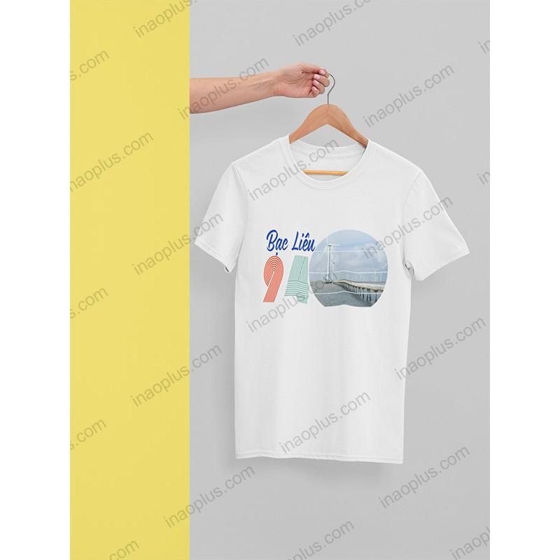 Áo phông du lịch-áo thun mùa hè-in áo cánh đồng gió*bạc liêu-in hình giá rẻ