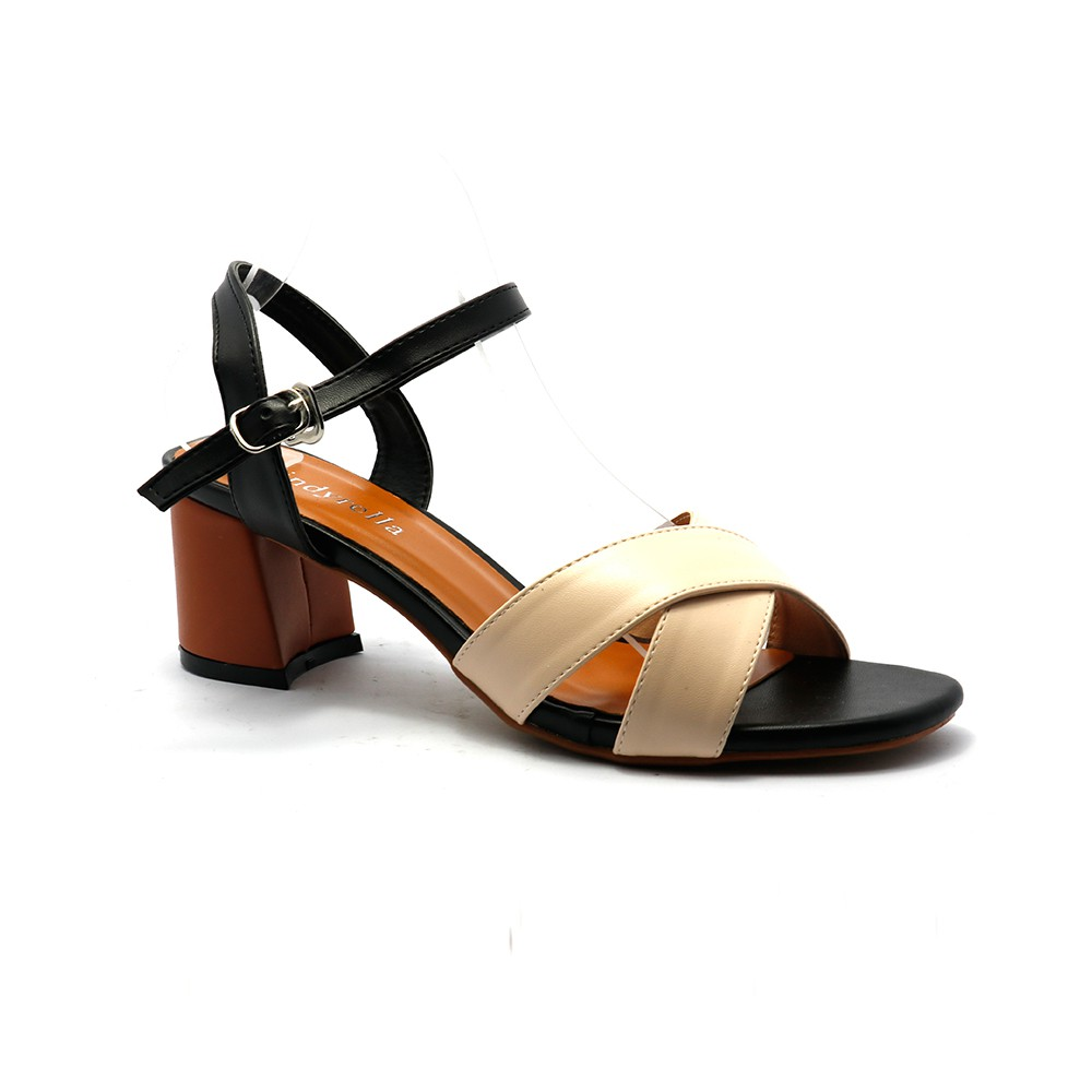 Sandal nữ cao gót quai chéo C1K