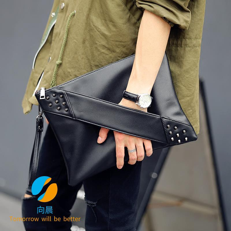 Hình ảnh Fashion tide rivet clutch bag envelope bag men and women shoulder bag Messenger bag casual bag tide wrist bag tide bag n