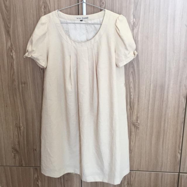 Đầm trắng ngà from suông
