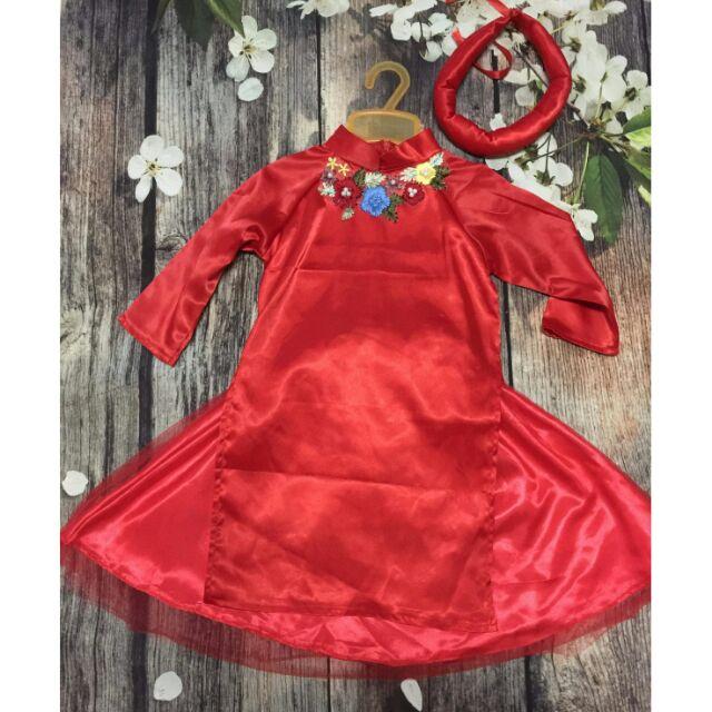 Áo dài cách tân cho mẹ và bé.cả set bao gồm váy và mấn nha