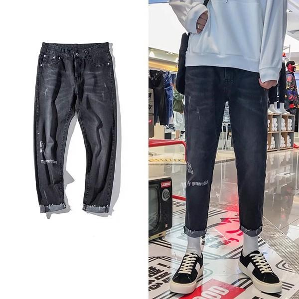 Quần Jeans A.G The Who unisex phong cách trẻ trung năng động - QJK135-xám đen