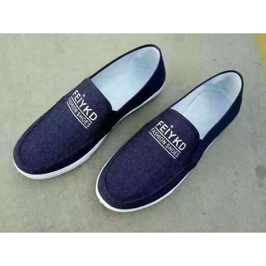 giày lười vải của nam