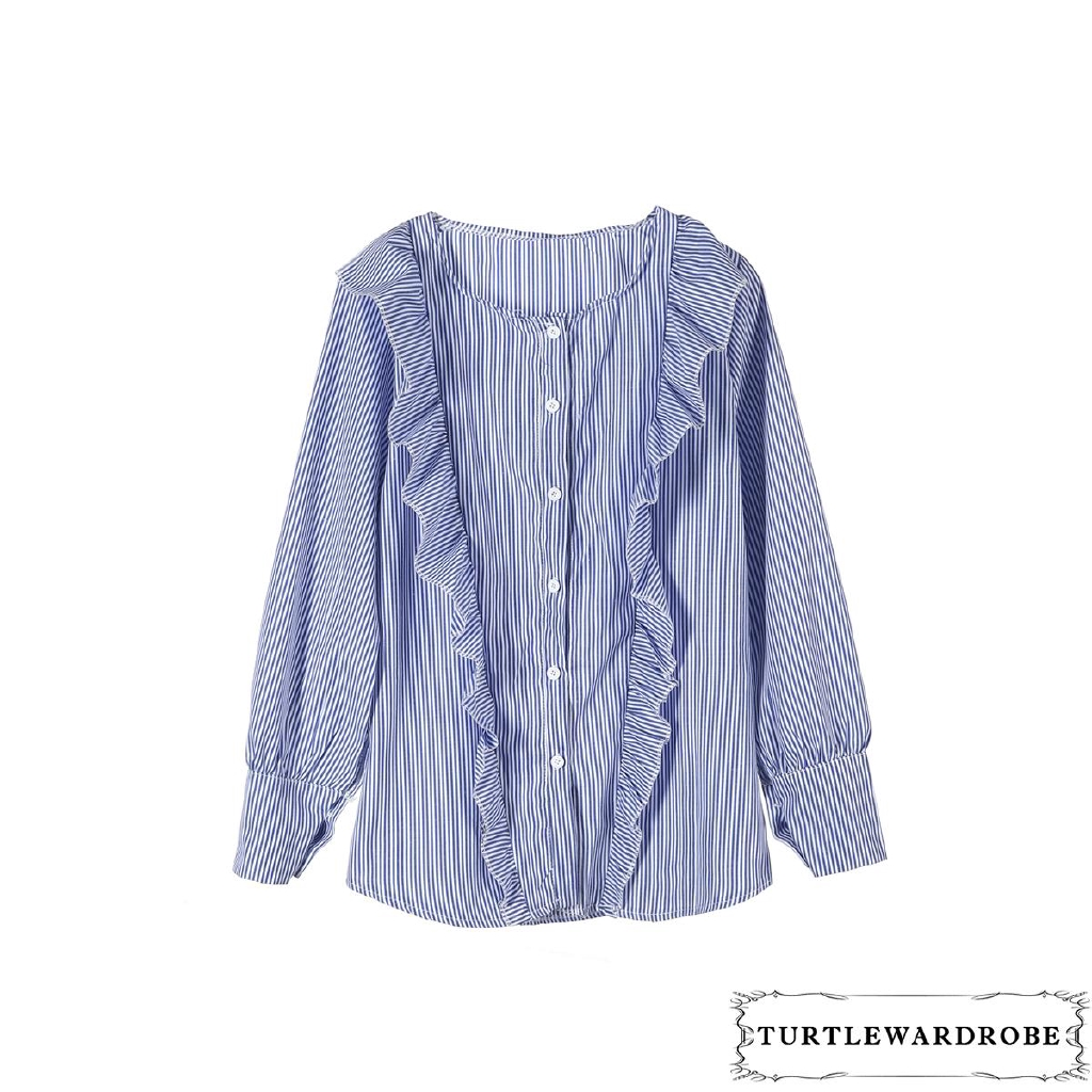 TLU-2018 Women Summer Loose Long Sleeve Blouse Women Casual Tops T-Shirt