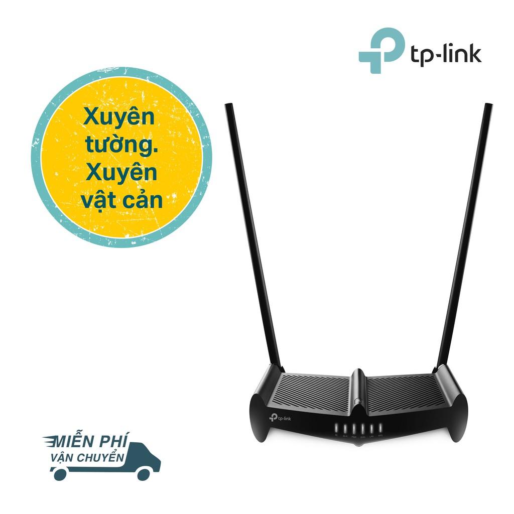 [Mã ELMALLR7 hoàn 10% xu đơn 300K] TP-Link Bộ phát Wifi xuyên tường chuẩn N 300Mbps Công suất cao-TL-WR841HP -