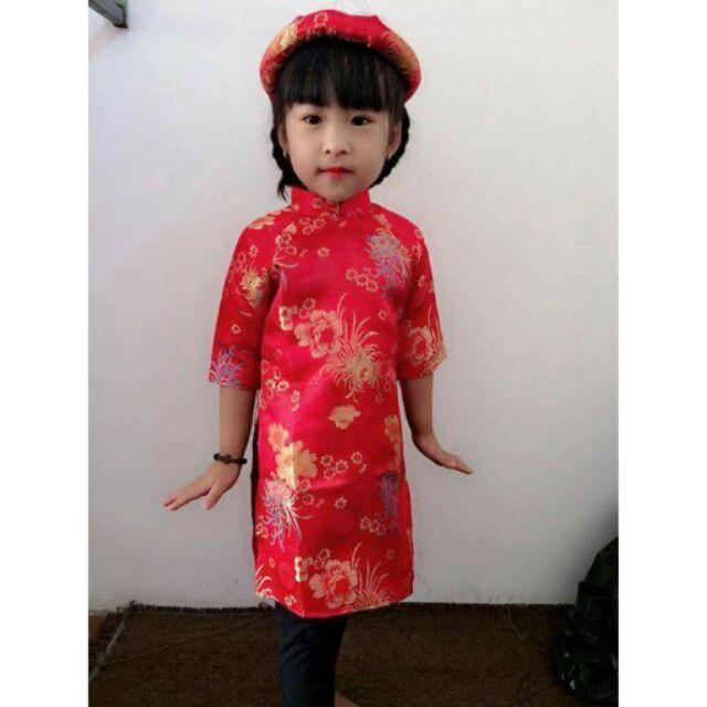 Áo dài cách tân cho bé từ 8-18 kg