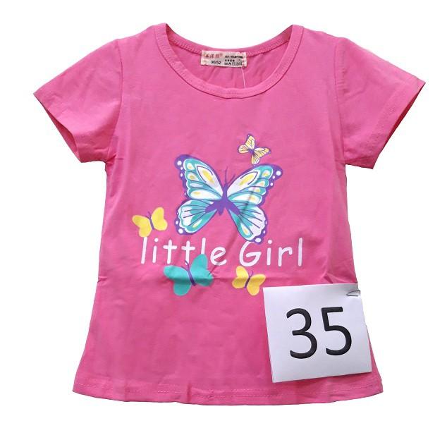 Áo cộc cho bé gái hình bướm