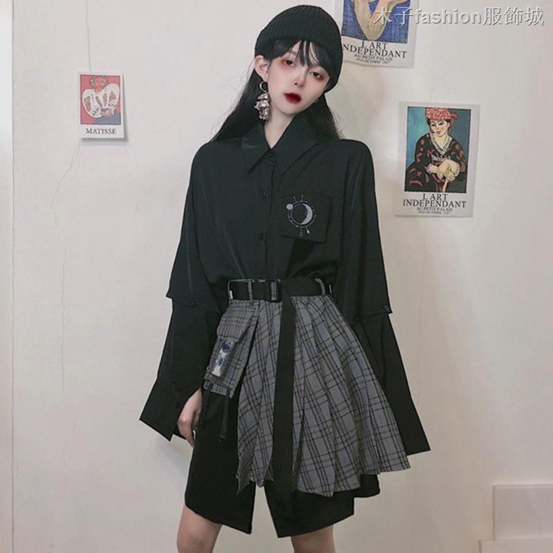 Bộ Áo 2 Dây + Chân Váy Xếp Ly Phong Cách Retro Hàn Quốc